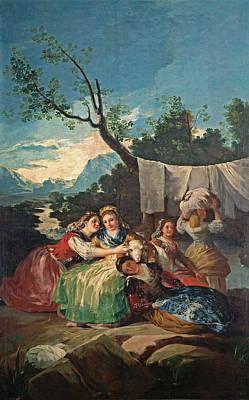 Washing Painting - The Washerwomen by Francisco Goya