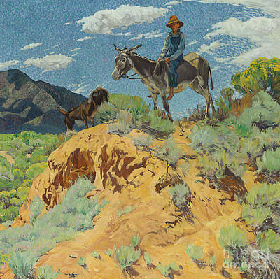 Wild West Painting - The Watcher by Walter Ufer