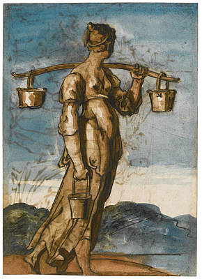 Drawing - The Water Carrier by Theodore Gericault