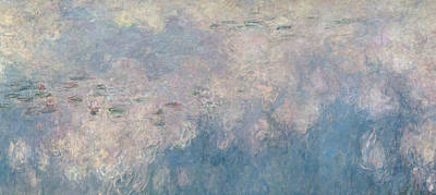The Waterlilies  The Clouds Art Print by Claude Monet