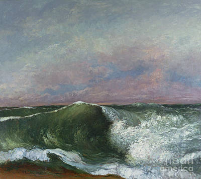 Courbet Painting - The Wave by Gustave Courbet