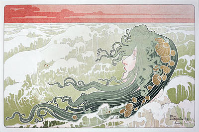 Painting - The Wave by Henri Privat-Livemont