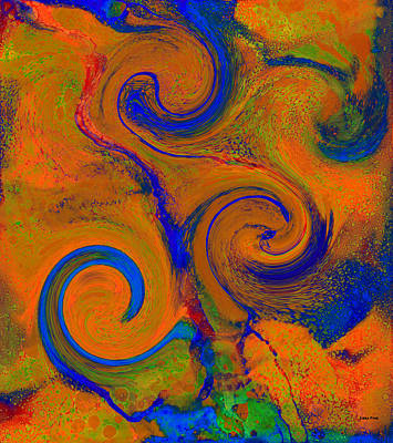 Digital Art - The Wave Of Truth 2 Gold Vertical        by Lesa Fine