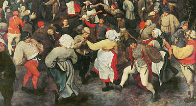 The Wedding Dance Art Print by Pieter the elder Bruegel