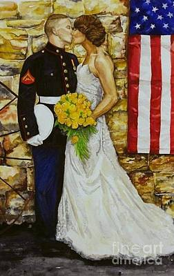 Painting - The Wedding by Kathy Laughlin