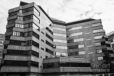 Wesleyan Photograph - the wesleyan building in new financial district of Birmingham UK by Joe Fox