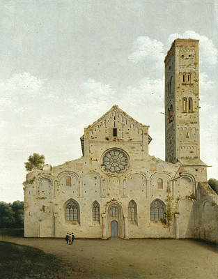 Architectural Painting - The West Facade Of The Church Of Saint Mary In Utrecht by Pieter Jansz Saenredam