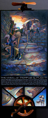 Frogs Mixed Media - The Wheel Of Tempus Q. Fugit by Patrick Anthony Pierson