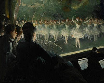 The White Ballet Print by Everett Shinn