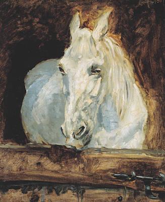 The White Horse Gazelle Print by Henri de Toulouse-Lautrec