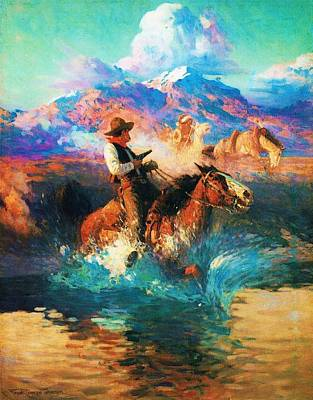 Painting - The Wild West by Pg Reproductions