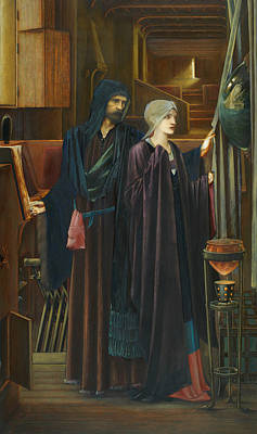 Sorcerer Painting - The Wizard by Edward Burne-Jones