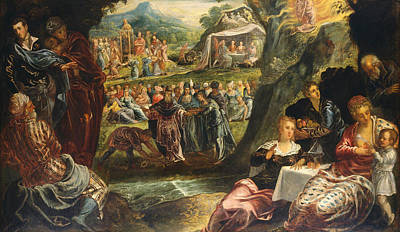 Judaism Painting - The Worship Of The Golden Calf by Tintoretto