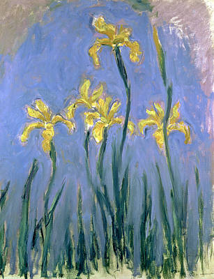Flora Painting - The Yellow Irises by Claude Monet