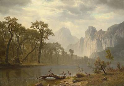 Yosemite Painting - The Yosemite Valley by Albert Bierstadt