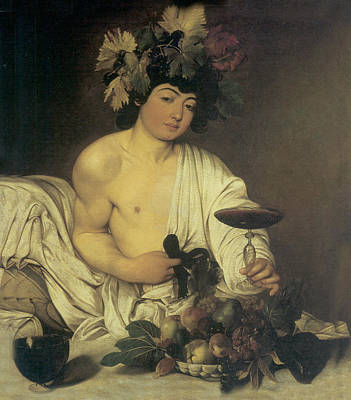 Caravaggio Painting - The Young Bacchus by Caravaggio