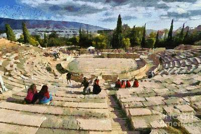 Painting - Theater Of Dionysus by George Atsametakis