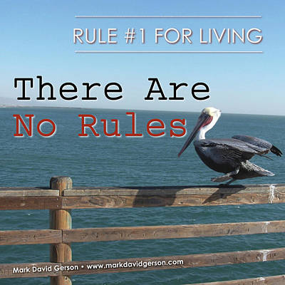Photograph - There Are No Rules by Mark David Gerson