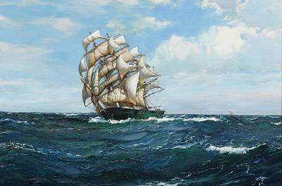 Water Vessels Painting - Thermopylae by Montague Dawson