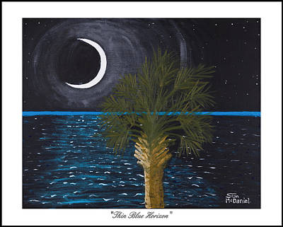 Cop Painting - Thin Blue Horizon by Stan McDaniel