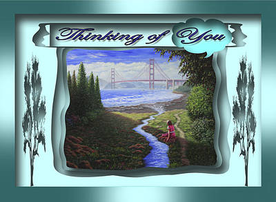 Painting - Thinking Of You by Saeed Hojjati