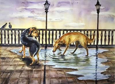 Painting - Thirst by Katerina Kovatcheva