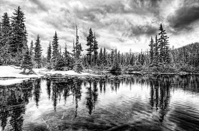This Is British Columbia No.40 - Callaghan Lake Reflects The Winter Original by Paul W Sharpe Aka Wizard of Wonders