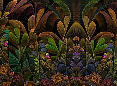 Art Print featuring the digital art This Peculiar Life - Fractal Art by NirvanaBlues