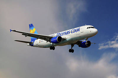 Airliners Photograph - Thomas Cook Airlines Airbus A320-214 by Nichola Denny