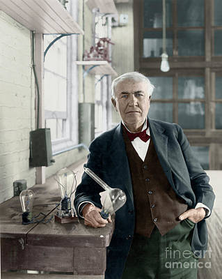 Photograph - Thomas Edison by Granger