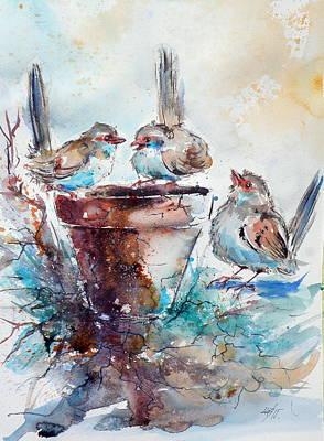 Three Birds Art Print by Kovacs Anna Brigitta