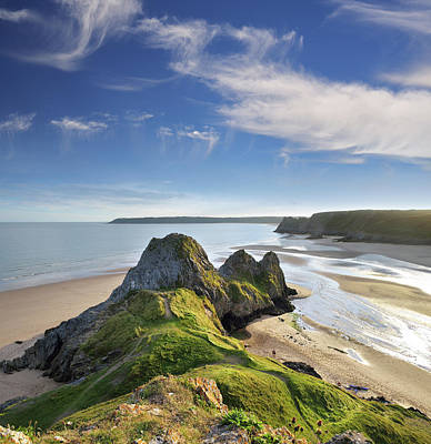 Photograph - Three Cliffs Bay 5 by Phil Fitzsimmons
