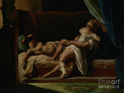 Three Lovers Art Print by Theodore Gericault