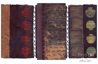 Painting - Three Panel Transitional Page Format  by Kerryn Madsen- Pietsch