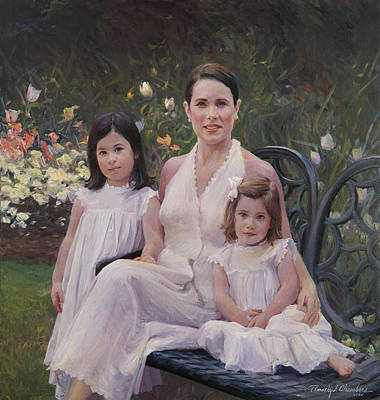 Painting - Three-quarter Group Portrait by Timothy Chambers