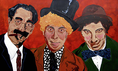 Groucho Marx Painting - Three's Comedy by Bill Manson
