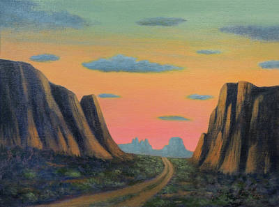Painting - Through The Pass by Gordon Beck