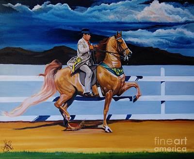 Painting - Thunder Nite by Cheryl Poland