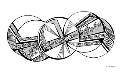 Native American Thunderbird Art Drawing - Thunderbird, Black And White by Marilyn Hilliard