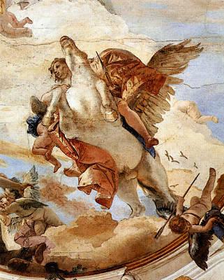 Digital Art - Tiepolo Palazzo Labia Bellerophon On Pegasus  by Giovanni Battista Tiepolo