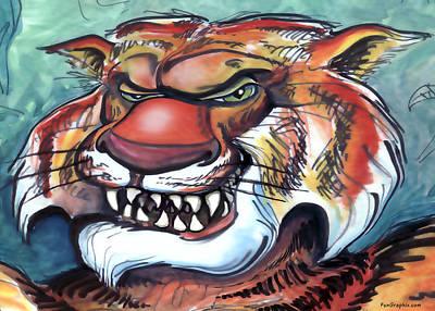 Tiger Art Print by Kevin Middleton