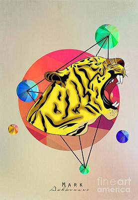 Caricature Digital Art - Tiger  by Mark Ashkenazi