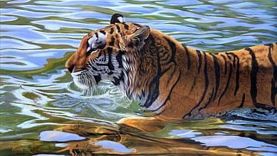 Cats Digital Art - Tiger by Maye Loeser