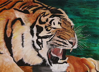 Painting - Tiger Paw by Shahid Muqaddim