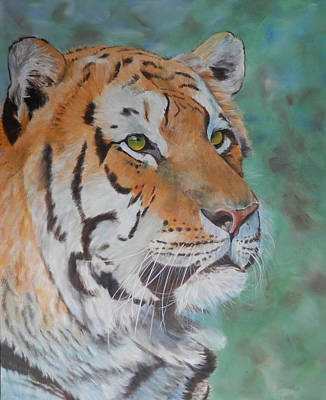 Painting - Tiger Portrait by John Neeve
