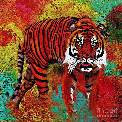 Painting - Tiger  by Saundra Myles