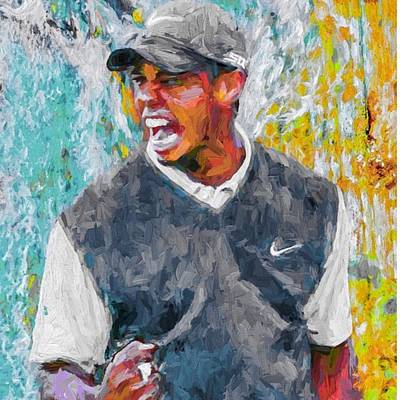 Athletes Wall Art - Photograph - #tiger #tigerwoods #golf #progress by David Haskett II