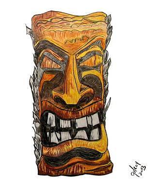 Tiki Art Art Print