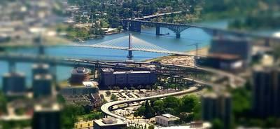 Photograph - Tilikum Bridge by Jerry Sodorff