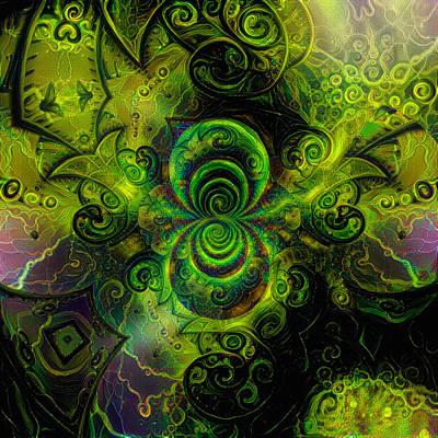 David Bowie Royalty Free Images - Time Fractal Royalty-Free Image by Bruce Rolff
